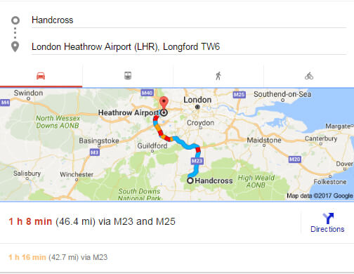 handcross-to-heathrow-airport-distance-time-route